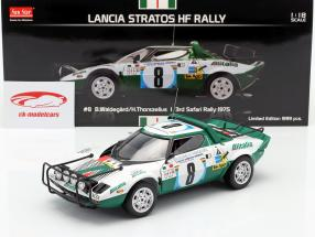 Lancia Stratos HF #8 3º Safari Rallye 1975 Waldegard, Thorszelius 1:18 SunStar
