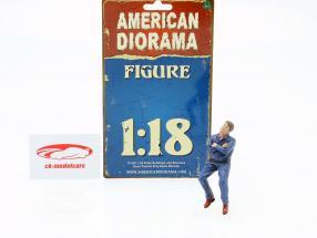 Zitten Monteur Figuur #2 1:18 American Diorama