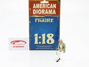 sidder gammel par figur #2 1:18 American Diorama