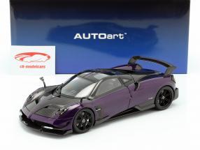 Pagani Huayra BC year 2016 violet / carbon 1:18 AUTOart