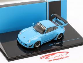 Porsche 911 (993) RWB Rauh-Welt blau 1:43 Ixo