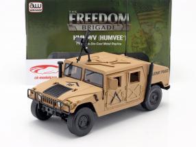 Humvee R-2 Veicolo militare deserto abbronzatura 1:18 Autoworld