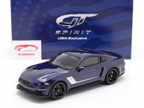 Ford Mustang Stage 3 Roush Performance 2019 blu metallico 1:18 GT-Spirit