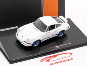 Porsche 911 Carrera RS 2.7 year 1973 white / blue 1:43 Ixo
