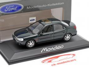 Ford Mondeo Limousine año 1996 verde oscuro metálico 1:43 Minichamps