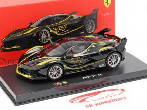Ferrari FXX-K #44 preto 1:43 Bburago Signature