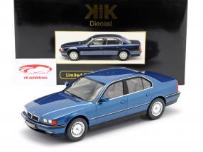 BMW 740i E38 Primera serie Año de construcción 1994 azul metálico 1:18 Escala KK
