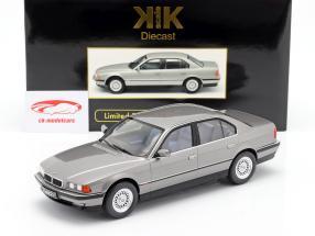 BMW 740i E38 1ª série Ano de construção 1994 cinza prateado metálico 1:18 KK-Scale