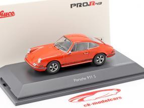 Porsche 911 S Coupe year 1971 orange 1:43 Schuco