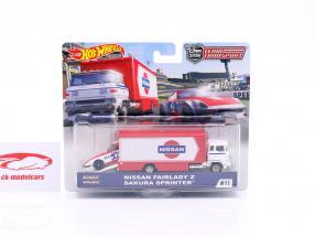 Set Team Transport: Nissan Fairlady Z & Sakura Sprinter 1:64 HotWheels