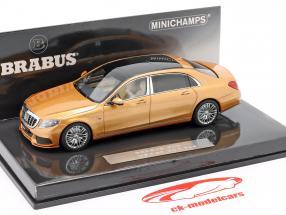 Maybach Brabus 900 basado en Mercedes-Benz Maybach S600 2016 oro 1:43 Minichamps