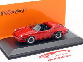Porsche 911 Speedster Année de construction 1988 rouge 1:43 Minichamps