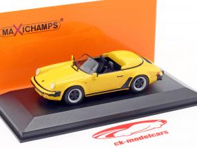 Porsche 911 Speedster Año de construcción 1988 amarillo 1:43 Minichamps