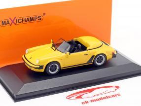 Porsche 911 Speedster Byggeår 1988 gul 1:43 Minichamps