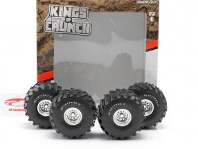 Monster Truck 66-inch pneumatico & cerchioni Set Firestone 1:18 Greenlight