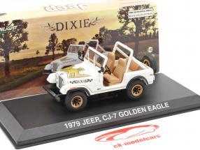 Jeep CJ-7 Golden Eagle Ano de construção 1979 branco / ouro 1:43 Greenlight