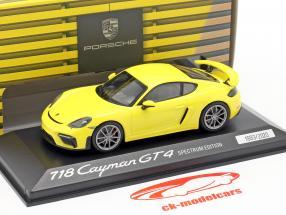 Porsche 718 Cayman GT4 Spectrum Edition 2020 amarillo 1:43 Minichamps