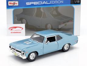 Chevrolet Nova SS Coupe Byggeår 1970 lys blå metallisk 1:18 Maisto