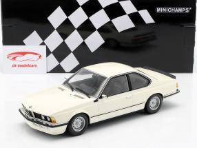 BMW 635 CSi (E24) Année de construction 1982 blanc 1:18 Minichamps
