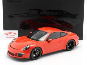 Porsche 911 (991) R Año de construcción 2016 lava naranja 1:12 Minichamps