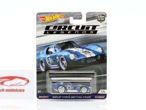 Shelby Cobra Daytona Coupe #15 blu / bianco 1:64 HotWheels