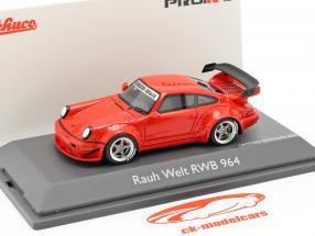 Porsche 911 (964) RWB Rauh-Welt rød 1:43 Schuco