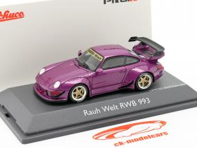 Porsche 911 (993) RWB Rauh-Welt roxo metálico 1:43 Schuco