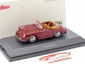 Porsche 356A Cabriolet Golf donker rood 1:43 Schuco