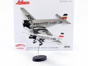 Junkers Ju52/3m plane 1932-52 M. von Richthofen silver / black 1:72 Schuco