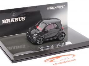 Smart Brabus Ultimate 125 Ano de construção 2017 preto 1:43 Minichamps