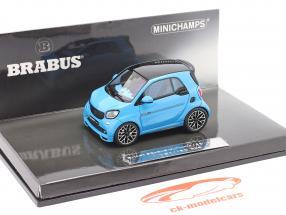 Smart Brabus Ultimate 125 Construction year 2017 blue 1:43 Minichamps
