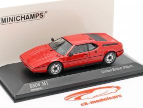 BMW M1 (E26) Année de construction 1980 henné rouge 1:43 Minichamps