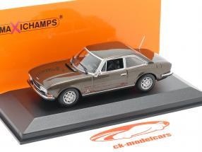 Peugeot 504 Coupe year 1976 brown metallic 1:43 Minichamps