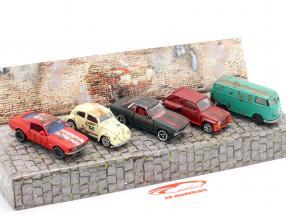 5 carros Definir Vintage Rusty Conjunto de oferta 1:64 Majorette
