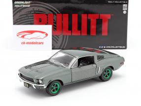 Ford Mustang GT Année de construction 1968 Film Bullitt (1968) vert jantes 1:24 Greenlight