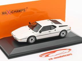 BMW M1 Année de construction 1980 blanc 1:43 Minichamps