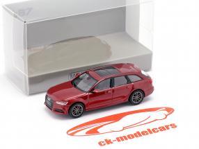 Audi A6 Avant Ano de construção 2018 vermelho metálico 1:87 Minichamps