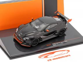 Aston Martin Vantage GT12 Baujahr 2015 schwarz / orange 1:43 Ixo