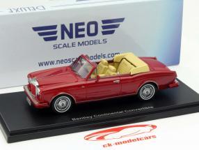 Bentley Continental DHC Ano de construção 1985 vermelho 1:43 Neo / 2º escolha