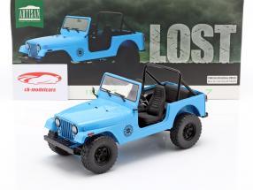Jeep CJ-7 Dharma 1977 Series de Televisión Lost (2004-2010) azul 1:18 Greenlight