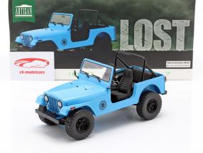 Jeep CJ-7 Dharma 1977 TV serier Lost (2004-2010) blå 1:18 Greenlight
