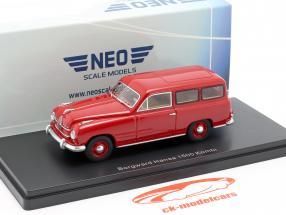 Borgward Hansa 1500 break année de construction 1951 rouge 1:43 Neo