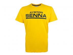 Ayrton Senna T-Shirt Racing Signature Jaune
