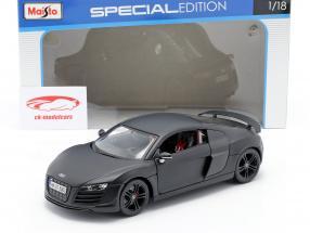 Audi R8 GT mattschwarz 1:18 Maisto