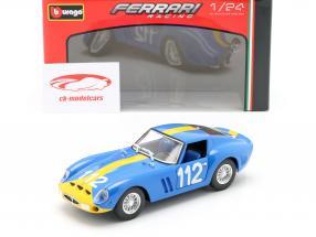 Ferrari 250 GTO #112 azul / amarillo 1:24 Bburago