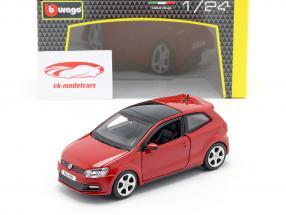 Volkswagen VW Polo MK5 GTI rosso 1:24 Bburago