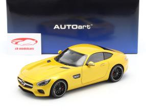 Mercedes-Benz AMG GTS año de construcción 2015 amarillo 1:18 AUTOart