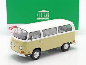 Volkswagen VW T2a Bus Anno di costruzione 1971 beige / bianca 1:18 Greenlight