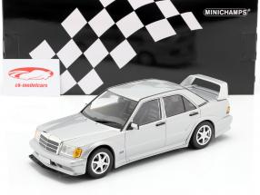 Mercedes-Benz 190E 2,5-16 Evo II 1990 argento metallico 1:18 Minichamps