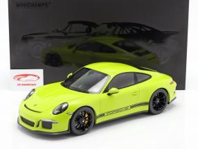 Porsche 911 (991) R Byggeår 2016 lys grøn 1:12 Minichamps